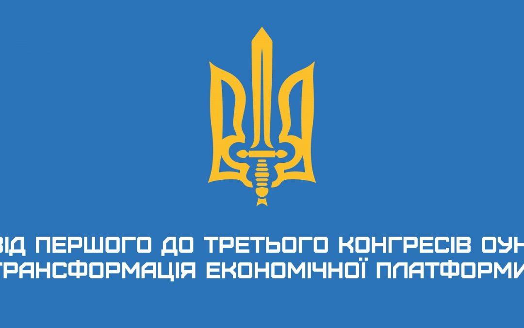 Від Першого до Третього Конгресів ОУН: трансформація економічної платформи