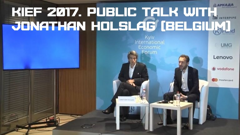 KIEF 2017. Public Talk with Jonathan Holslag (Belgium)